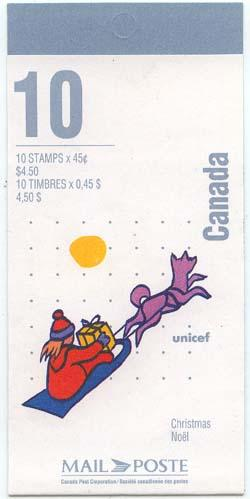 Canada USC #BK196b Cat. $12. 1996 45c Gifts by Sled Booklet - VF-NH