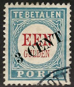 Netherlands Postage Due (J43 Type III) Used F-VF  thin spots Cat $27.50