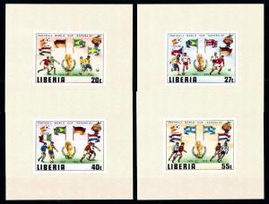 [60607] Liberia 1981 World Cup Soccer Football Spain 4 Deluxe sheets MNH