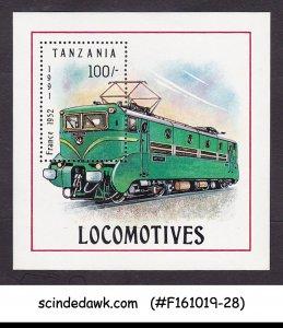 TANZANIA - 1991 LOCOMOTIVES / RAILWAY - MIN/SHT MNH