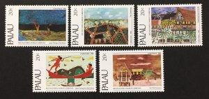 Palau 1983 #28-32, Paintings, MNH.