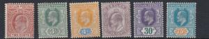 CEYLON  1903         S G  265 - 274  VARIOUS VALUES TO 75C    MH