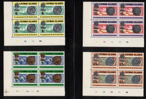 CAYMAN ISLANDS - Currency Issue Blocks MNH 1973 SG319-322