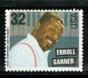 2992 Erroll Garner (Jazz Composer & Pianist) Mint/nh Free Shipping