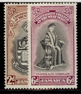 JAMAICA GVI SG149-150, BWI university college set, M MINT.