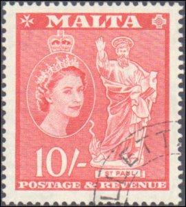 Malta #261, Incomplete Set, 1956-1957, Used