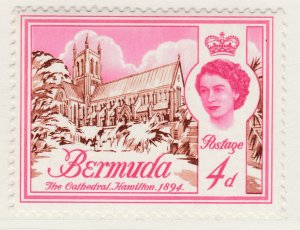British Colony Bermuda 1962 4d MH* Stamp Historical Buildings A22P18F8919