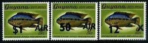 HERRICKSTAMP GUYANA Sc.# 413D-G Fish Overprint Stamps
