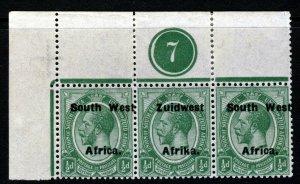 SOUTH WEST AFRICA KG V 1925 Overprinted ½d. PLATE BLOCK Setting VI SG 29 MINT