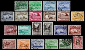 Peru Scott C16-C22, C24-C27, C29-C39 (1936-37) Used/Mint H F-VF, CV $143.35 B