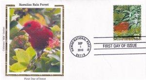 2010, Hawaiian Rain Forest, Coloano Silk, FDC (E12277)