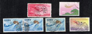JAPAN RYUKYUS ISLANDS AIR MAIL USED STAMPS COLLECTION LOT