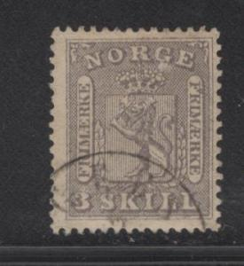NORWAY  7  USED  1863 ISSUE