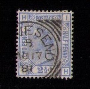 SG 157 Great Britain Townesend (PL 21) Used Very Fine / XF