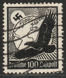 Germany C54, 100pf HIGH VALUE. Early Air Mail Used. F-VF. (2)
