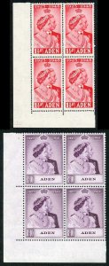Aden 1948 Royal Silver Wedding SG30 1 U/M (MNH) BLOCK OF 4