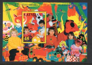 Latvia Sc 417 1996  Children's Games stamp sheet mint NH