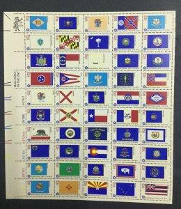 MOMEN: US STAMPS # 13c FLAGS SHEET MINT OG NH LOT #39909