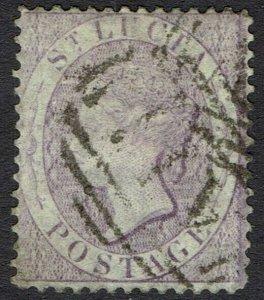 ST LUCIA 1864 QV (6D) WMK CROWN CC PERF 14 USED