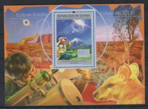 Guinea MNH S/S Space Solar Eclipse 2011