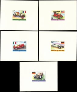 Upper Volta 362-364,C206-7, MNH deluxe sheets, Oldtimer Automobiles