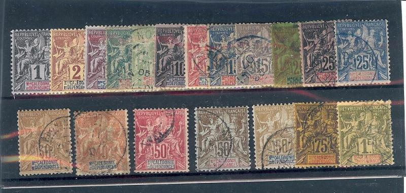 New Caledonia, 40-58, Navigation & Commerce Singles,**Used**