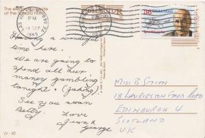 Airmail Issues 36c Sikorsky 1989 Las Vegas, NV 890 PPC Airmail to Edinburgh,...