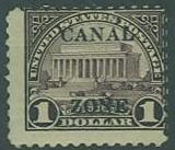 Canal Zone SC#81 Lincoln Memorial $1.00 overprinted, MH