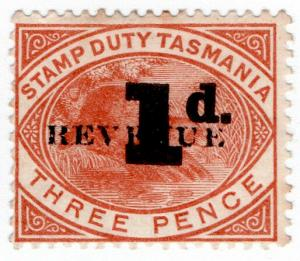 (I.B) Australia - Tasmania Revenue : Stamp Duty 1d on 3d OP