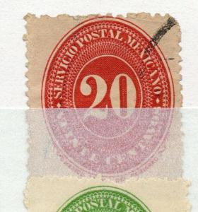 Mexico 1886 Numeral Issue Fine Used 20c. 311035