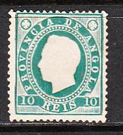 Angola SC# 17  1886 10R Luiz Perf 12.5 Mh