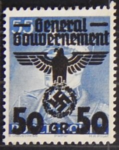 Reich, Poland, 1940, Polish Postage Stamps Overprinted, YT #44, (1588-Т)