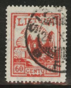 LITHUANIA LIETUVA Scott 282 wmk 238 CV$9.50