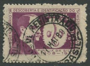 Brazil - Scott 903 - Dr Paraja De Silva - 1959 - Used- Single 2.50cr Stamp