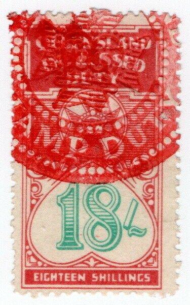 (I.B) Australia - Queensland Revenue : Impressed Duty 18/-