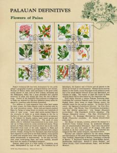 Palau 126-30,32,5-6,8-41 on Souvenir Page Interpex cancel - Flowers