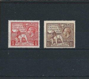 GB-KG5 1924 WEMBLEY PAIR MNH SG 430/431 CAT £32