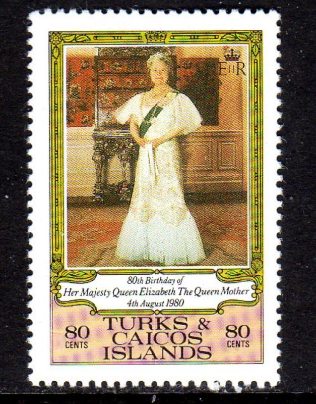 TURK & CAICOS #440  1980  QUEEN MOTHER MINT VF NH  O.G