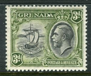 GRENADA; 1934 early GV Pictorial issue fine Mint hinged 3d. value