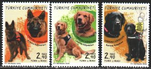 Turkey. 2020. 4565-67. Dogs. MNH.