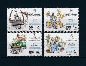 [48551] Oman 1988 Traditional handcrafts Silversmith Weaver MNH