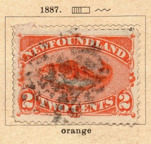 Newfoundland 1887 Early Issue Fine Used 2c. NW-11922