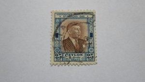 STAMP OF CEYLON USED HINGED