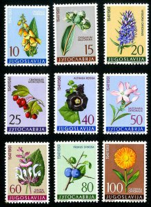 Yugoslavia Stamps # 597-605 XF MNH