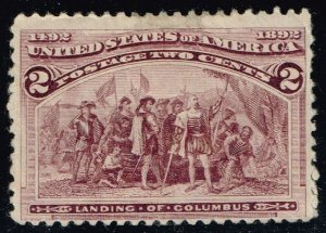 US #231 Landing of Columbus; Unused (2Stars)