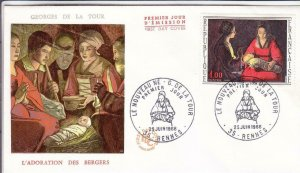 1966, France: The Newborn by Tour, FDC (D13570)