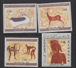 ALGERIA  365-368 MINT HINGED WALL ART PAINTINGS SET 1967