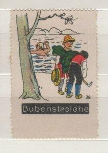 Germany - Bubenstreiche (Boyish Pranks) Vignette Poster Stamp #38 - NG