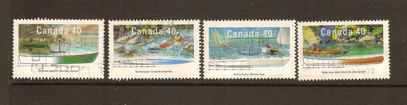 CANADIAN SET ON  SMALL CRAFT-3#1317-1320 USED STAMPS  LOT#238
