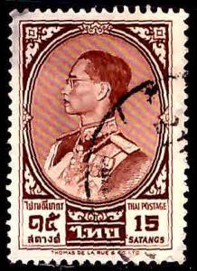 Thailand  Scott 350 Used stamp slight corner thin
